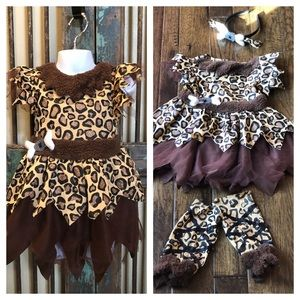 Other - Bam bam girls size 3-4T 4 pc set Halloween costume